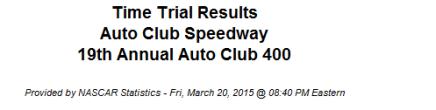 2015 auto club speedway qualifying 1