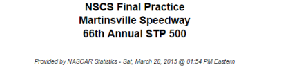 2015 martinsville final practice 1