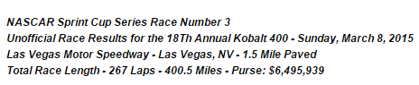 2015 sunday vegas results 1