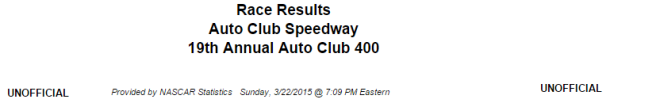 auto club cup results 1