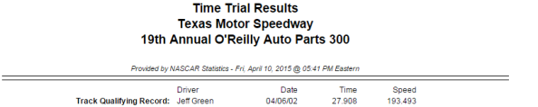 2015 friday texas xfinity qualifying 1